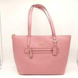 NWT COACH Taylor Market Tote Rose Pebbled Leather
